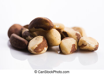 brasil nuts isolated on white background
