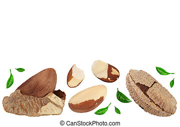 Brasil nuts isolated on white background with clipping path ...