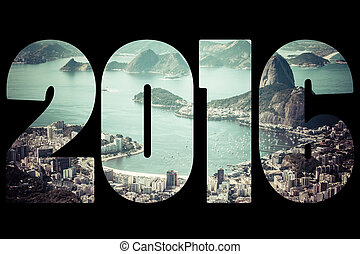 brasil, palabra, de, río, janeiro, 2016
