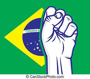 brasil, puño
