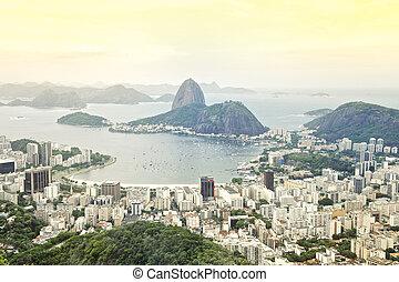 brasil, río, contorno, de, janeiro