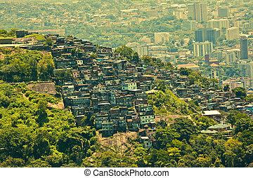 brasil, río, de, favela, janeiro