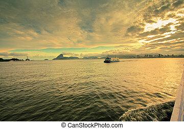 brasil, río, de, transbordador, janeiro