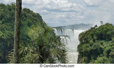 Brasil seen from the Iguazu National Park in Argentina -...