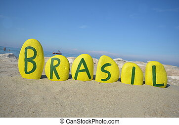 Brasil, souvenir on yellow stones - Yellow stones...