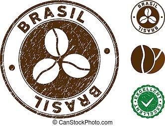 Brasil Stamp with Distress Texture