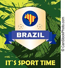 brasil, tempo, aquilo, vetorial, digital, desporto