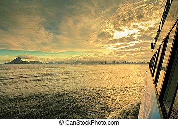 brasil, transbordador, de, río, janeiro
