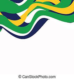 brasil, vector, plano de fondo