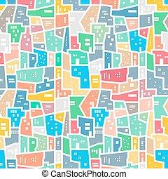 brasileño, favela., brillante, coloreado, seamless, pattern.