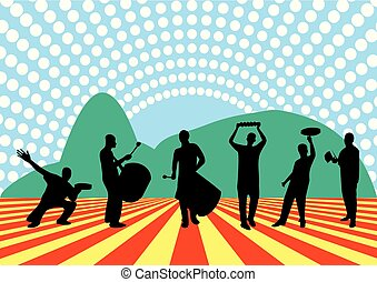 brasileño, samba, banda