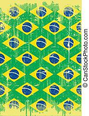 brasileño, sucio, cartel