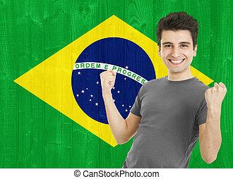 brasileño, ventilador deportivo
