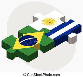 brasile, bandiere, uruguay