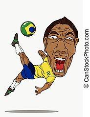 brasile, calcio, player.