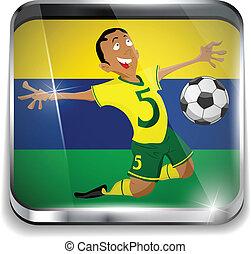 brasile, giocatore, uniform soccer