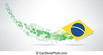 brasile, moderno, bandiera