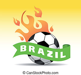 brasile, palla, calcio