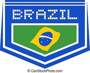 brasile, simbolo, fresco