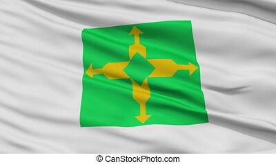 Brasilia City Close Up Waving Flag - Brasilia Capital City...