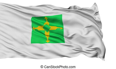 Brasilia City Isolated Waving Flag - Brasilia Capital City...