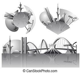 Brasilia city skylines - Vector illustration of the Brasilia...