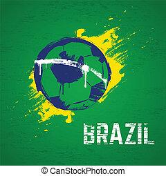brasilien, fotboll, bakgrund