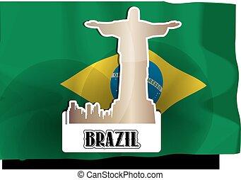 brasilien, illustration
