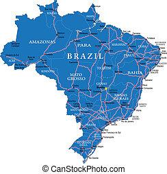 brasilien, landkarte