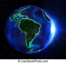 brasilien, nacht, landen bereich