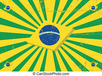 brasilien, sonnenstrahlen, horizontal, hintergrund