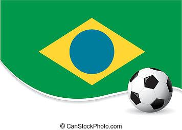 brasilien, värld, bakgrund, kopp
