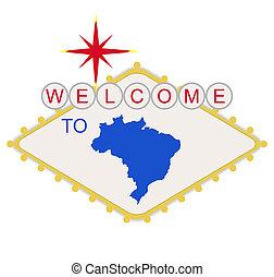 brasilien, willkommenes zeichen