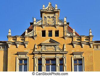 Brasov XIX century architecture detail, Romania, Transylvania