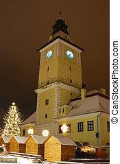 Brasov center in Christmas days, Romania