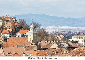 Brasov Medieval City Rooftops View