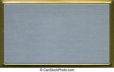 brass aluminum plate for presentation. Very hi rez photo