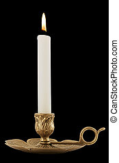 Brass Candleholder - Decorative antique brass candelabra...