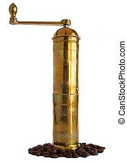 Brass coffee grinder