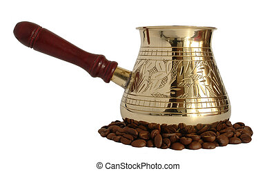 Brass coffee pot