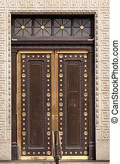 Brass Door US Treasury DepartmentWashington DC