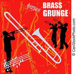 Brass Musicians Background