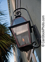 Brass Gas Lamp