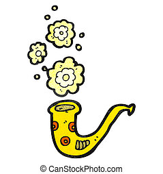 brass horn cartoon