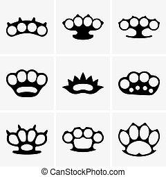 Brass knuckles - Set of Brass knuckles