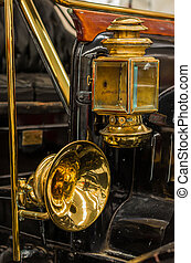 Brass Lamp and Horn