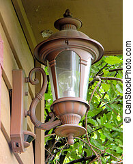 Brass Lantern on House