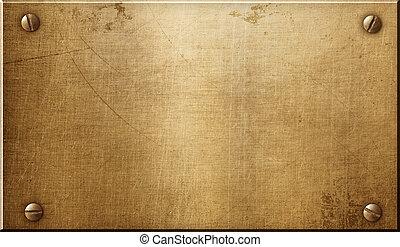 Brass metal plate - Brass or bronze metal plate
