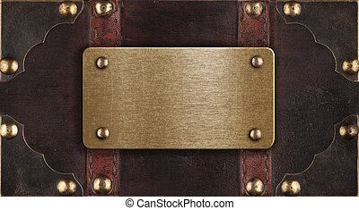 brass metal plate on chest cover