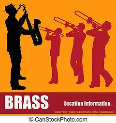 Brass Music Background  - Brass Music Vector Background